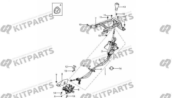 Механизм переключения передач МКПП DongFeng AX7