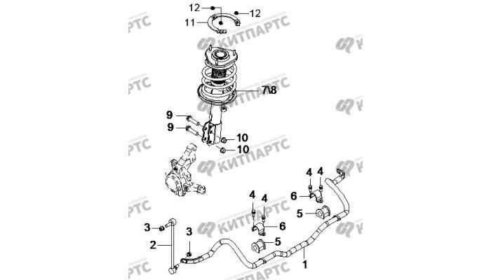 Передняя подвеска BYD F3 (F3R)