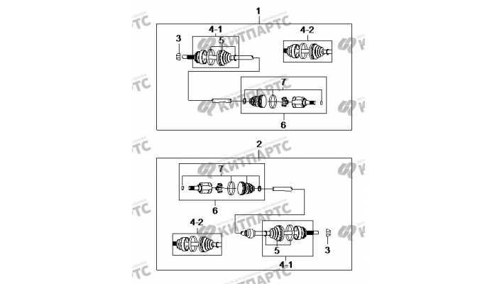Приводы BYD F3 (F3R)
