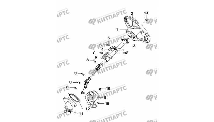Рулевая колонка BYD F3 (F3R)