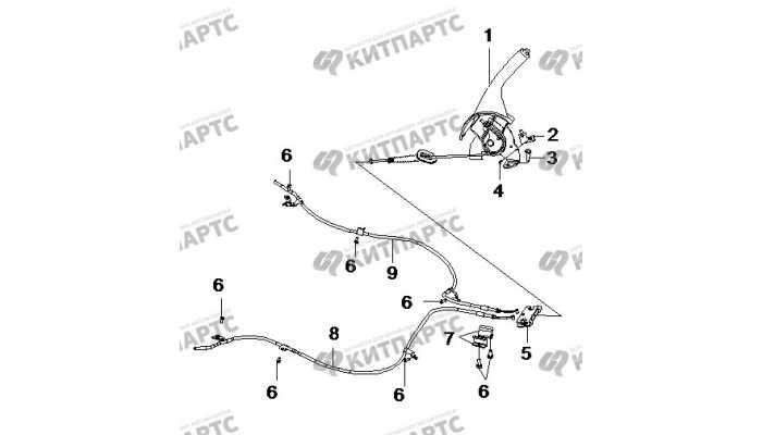 Стояночный тормоз BYD F3 (F3R)