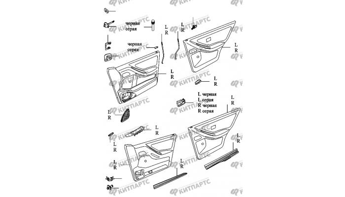 Карты дверей Chery Amulet (A15)