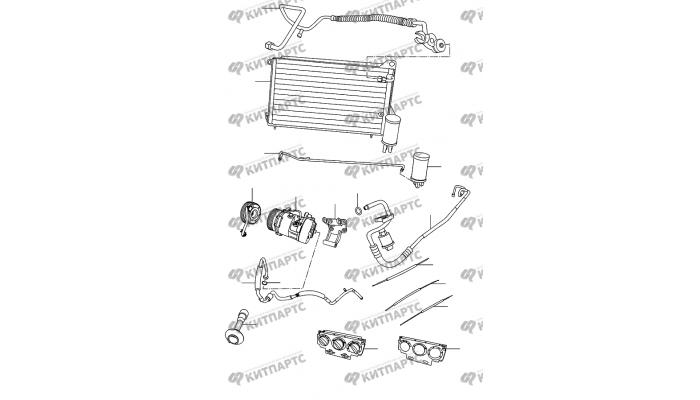 Радиатор кондиционера Chery Amulet (A15)