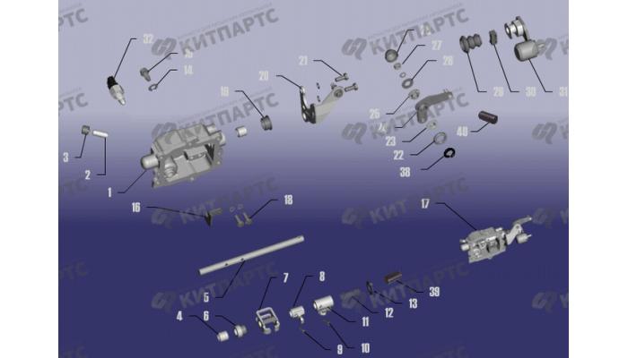 Механизм переключения передач Chery Tiggo (T11)