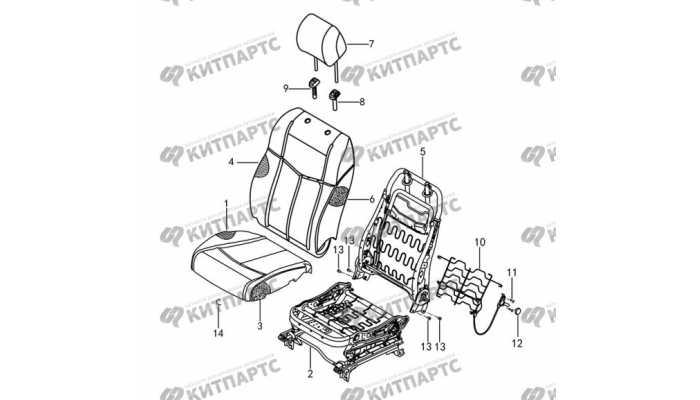 Сиденье водителя ткань - подушки и спинка DongFeng AX7
