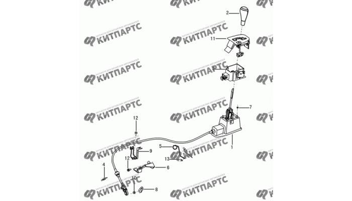 Механизм переключения АКПП Dong Feng H30 Cross