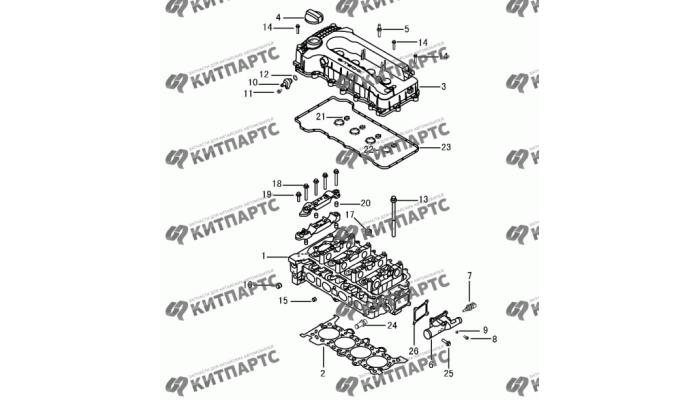 Головка блока цилиндров S30 (E-Teco) Dong Feng S30