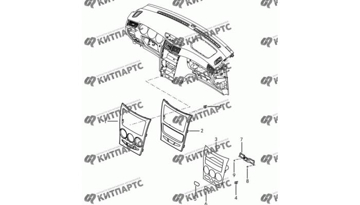 Центральная консоль панели приборов Dong Feng S30