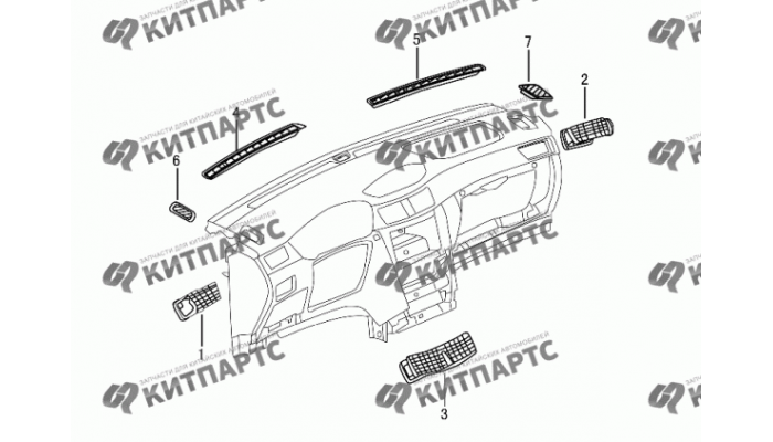 Воздуховоды панели приборов Dong Feng S30