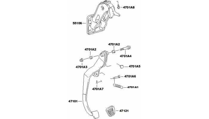 Педаль тормоза FAW V5