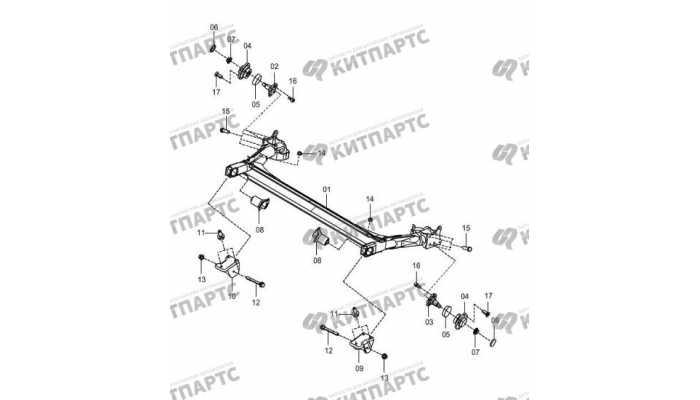 Back shaft-drum brake FAW Oley