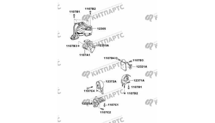 Подушки двигателя FAW Vita