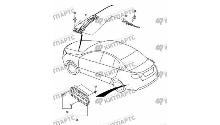 Панель стеклоочистителя и вентиляция багажника FAW Oley