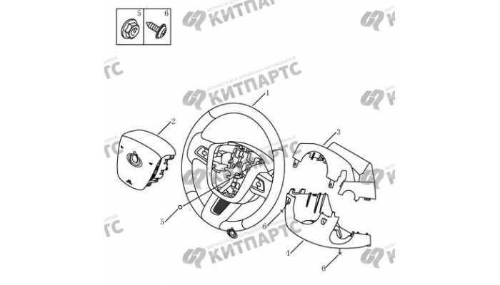 Рулевое колесо (мульти-функциональное) Geely Emgrand EX7
