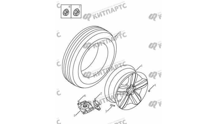 Запасное колесо Geely Emgrand EX7
