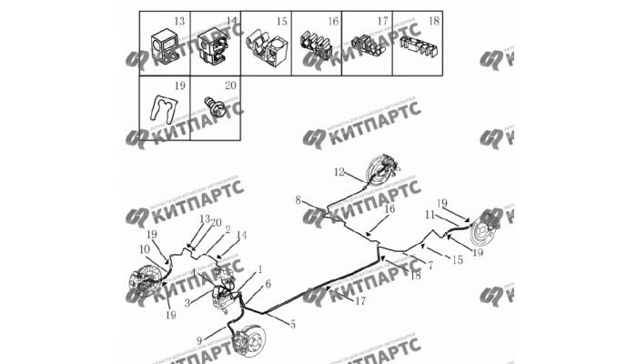Трубки тормозные (вариатор) Geely Emgrand (EC7)