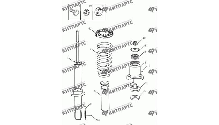 Амортизатор задний Geely Emgrand (EC7)