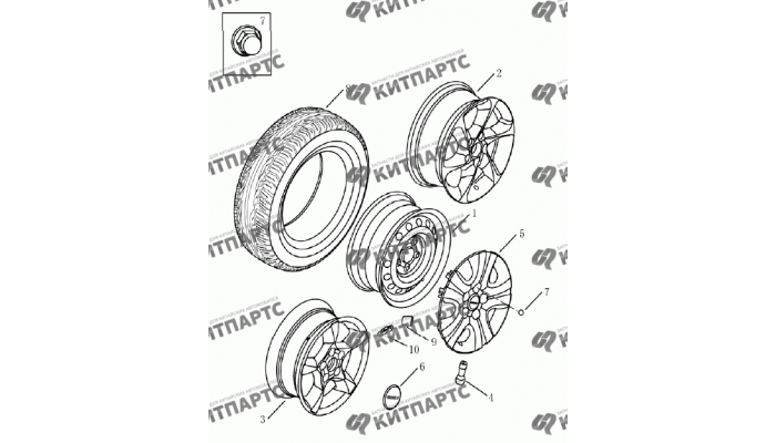 Колеса Geely Emgrand (EC7)