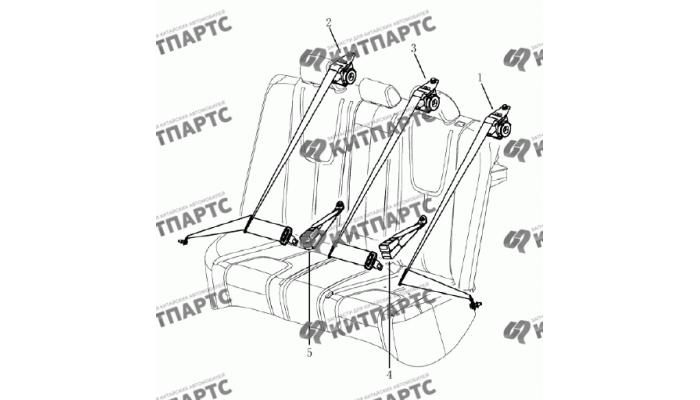 Ремни безопасности задние (седан) Geely Emgrand (EC7)