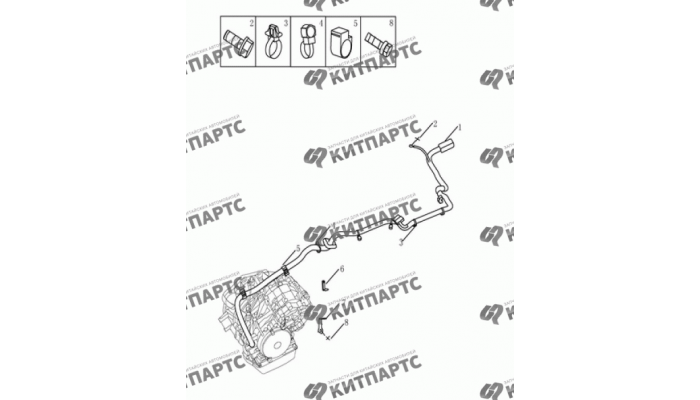Жгут проводов вариатора Geely Emgrand (EC7)