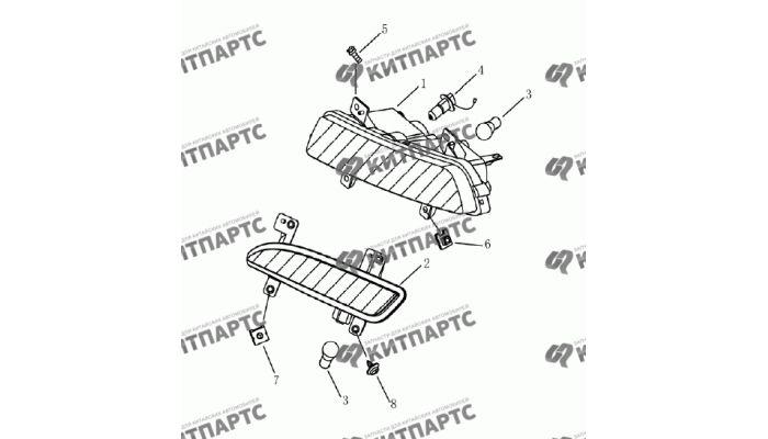 Фары противотуманные (седан) Geely Emgrand (EC7)