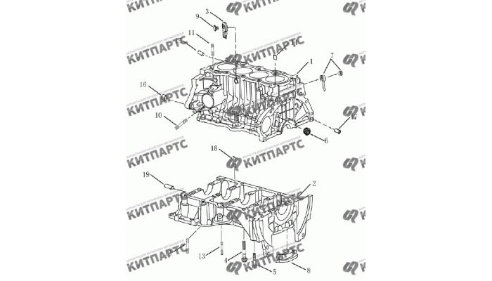 Блок цилиндров (1,8 L) Geely Emgrand (EC7)