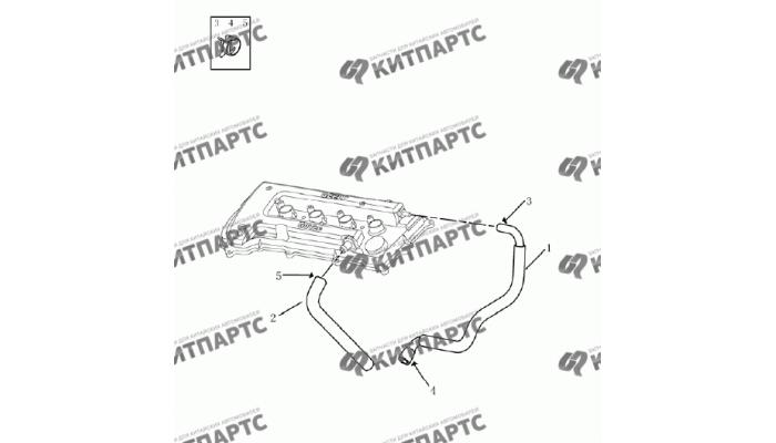 Вентиляция картера (1,5 L DVVT) Geely Emgrand (EC7)