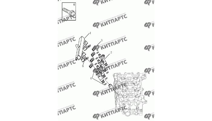 Форсунки топливные (1.8L) Geely Emgrand (EC7)