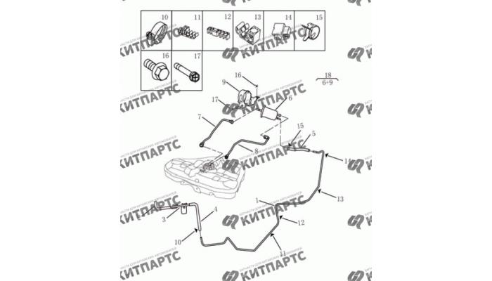 Топливные трубки (1,8 l) Geely Emgrand (EC7)