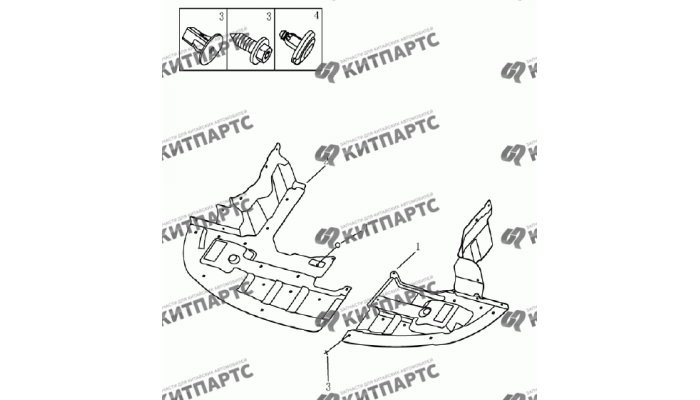 Брызговики моторного отсека Geely Emgrand (EC7)