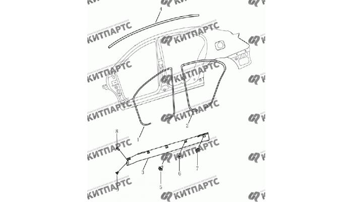 Накладки кузова (седан) Geely Emgrand (EC7)