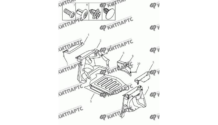 Обивка багажника (хетчбэк) Geely Emgrand (EC7)