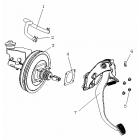 Педаль тормоза и главный тормозной цилиндр