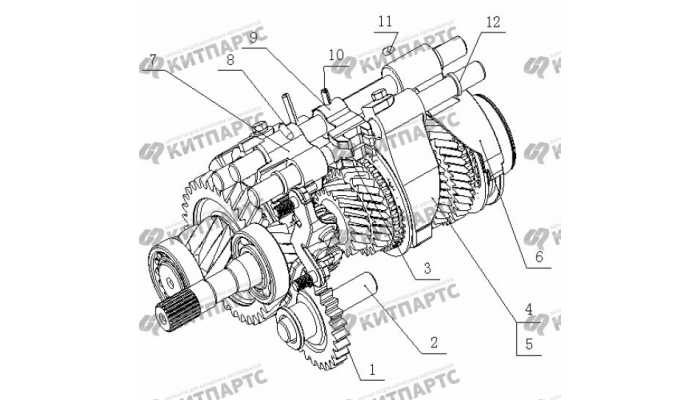 S160G Вилки переключения передач Geely Otaka (CK)