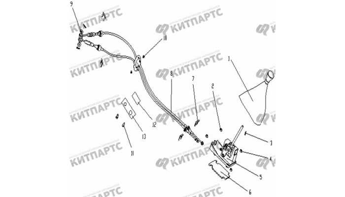 Рычаг переключения передач (S160) Geely Otaka (CK)